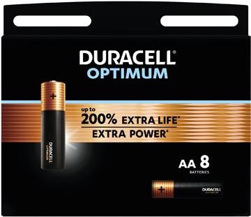 Duracell batterij Optimum AA, blister van 8 stuks