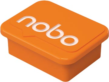 Nobo magneten voor whiteboard, oranje, pak van 4