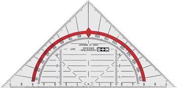 M+R geodriehoek, 16 cm
