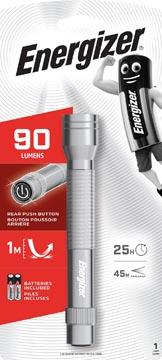 Energizer zaklamp Metal LED 2AA, inclusief 2 AA batterijen, op blister