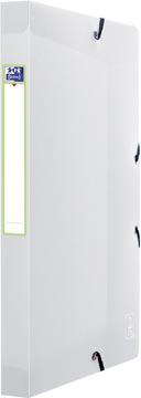 OXFORD 2nd Lide elastobox, formaat A4, uit PP, rug van 2,5 cm, transparant