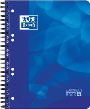 Oxford School Projectbook spiraalschrift, ft A5+, 6-gaats perforatie, gelijnd, blauw