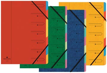 Exacompta Sorteermap 7-delig, geassorteerde kleuren