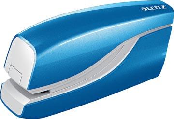 Leitz WOW elektrische nietmachine, 10 blad, voor nietjes E1, blauw