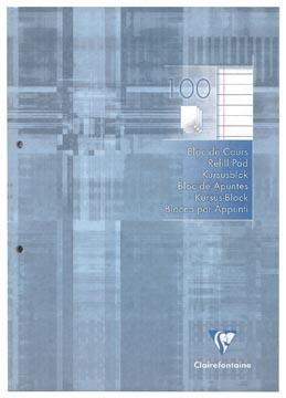 Clairefontaine cursusblok gelijnd met kantlijn