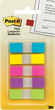 Post-it Index Smal geassorteerde kleuren, 3 + 2 tabs gratis