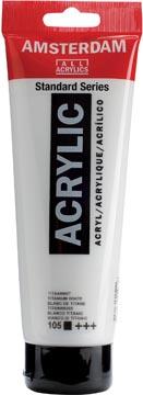 Amsterdam acrylverf tube van 120 ml, titaanwit