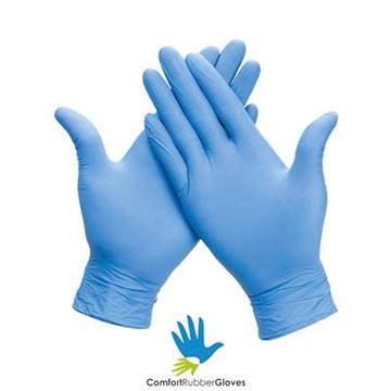 Handschoenen uit nitril, extra large, blauw, doos van 100 stuks