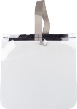 Beschermend gezichtsscherm, transparant, ft 25 x 25 cm