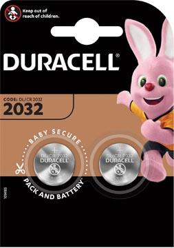 Duracell knoopcel Electronics DL/CR 2032, 3 volt, blister van 2 stuks