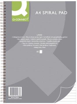 Q-Connect collegeblok, ft A4, gelijnd, 80 vel