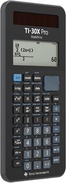 Texas wetenschappelijke rekenmachine TI-30X Pro MathPrint Frans- en Duitstalig, op blister